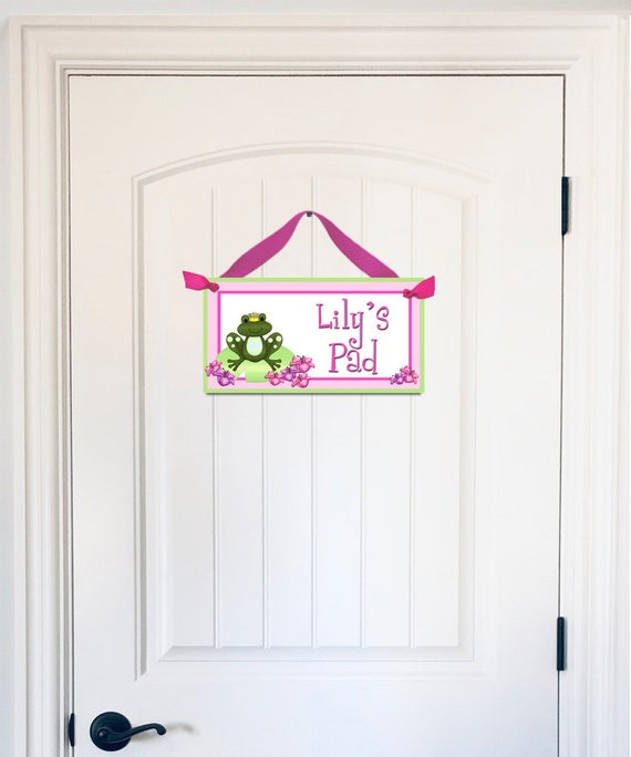 Toad and Lily Born to be a Princess Girls Bedroom Baby Nursery Bedroom DOOR SIGN Wall Art Decor DS0024