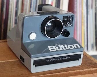 """1980's Polaroid """"The Button"""" Camera - Film-Tested & Working"""