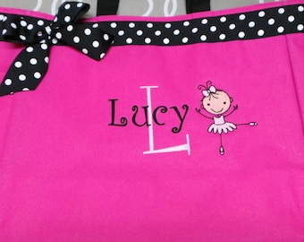Popular items for personalized girls dance bags best loved f2053 7e767  Ballet  Bag with Ballerina 06c277ef485fc