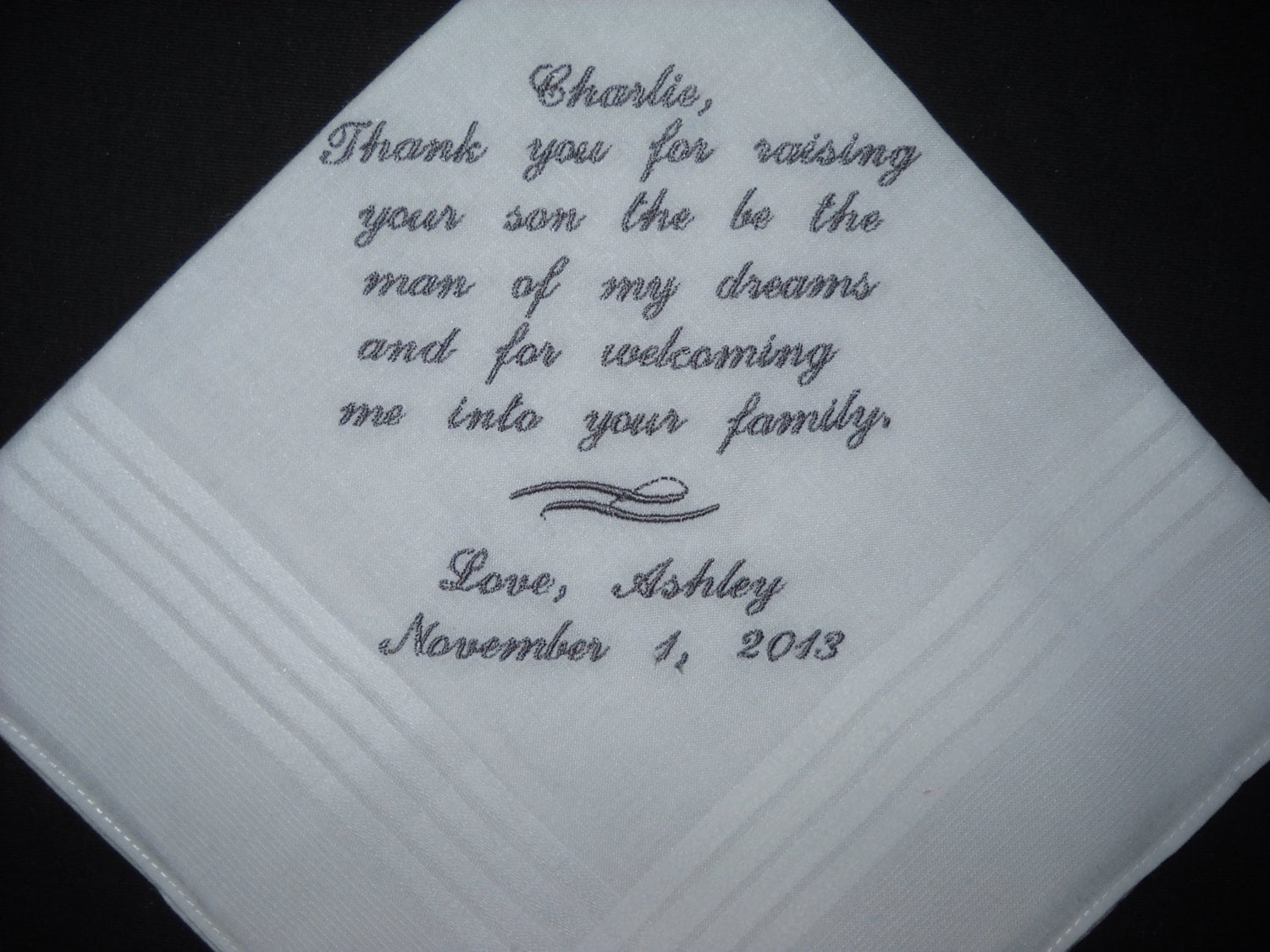 Wedding Handkerchiefs For The Family: Wedding Hankie Handkerchief Father In Law Or Mother In Law