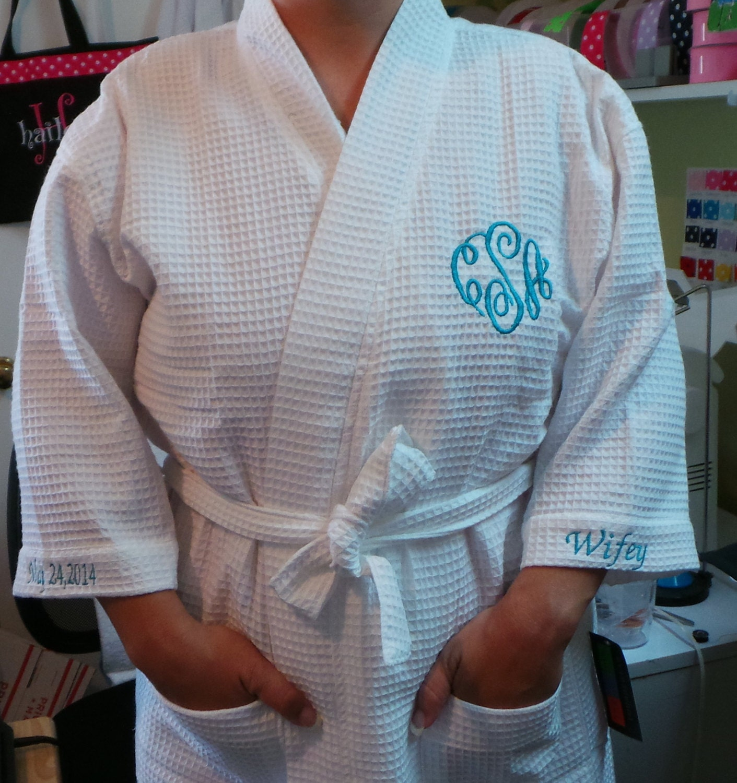 6287160007 Brides Robe Plus size xxl robe Personalized Mrs. Name on the