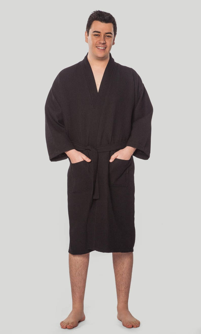 Mr Hers Anniversary Mrs His Monogrammed Robes Embroidered Robes 2 calf length robes waffle robe Christmas Wedding gift Names