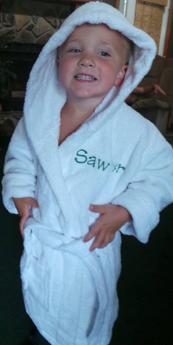 d82e74582b Terry Cloth Bathrobes Children s Robes Hooded Personalized