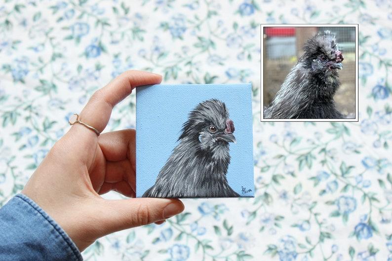 3x3 Custom Acrylic Canvas Pet Portrait Birds