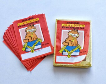 VINTAGE GARFIELD Book Plates Labels 1980s