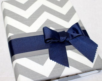 Elephant Baby Shower Guest Book / BABY Shower Guest Book / Blue and Gray Guest Book /  Navy and Gray Baby Shower Guest Book / Baby Boy book