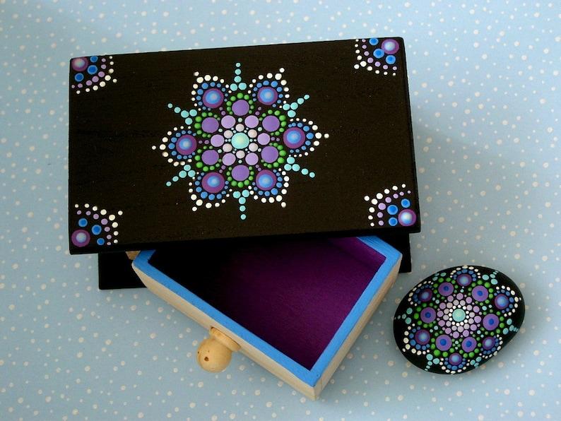 Mothers Day Mandala Gift Set Dot Art Gift Ideas Wood Jewelry Etsy
