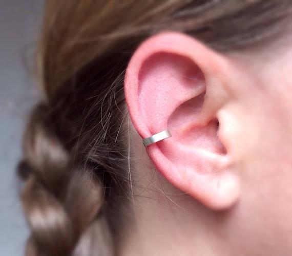 ear cuff earrings silver ear cuff minimal ear cuff dainty ear cuff no piercing ear cuff conch earring Minimalist ear cuff