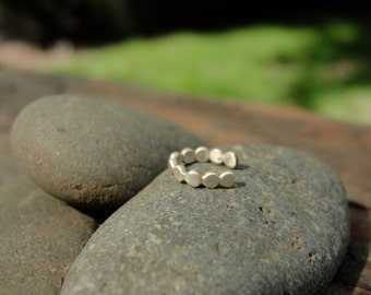 Sterling Silver Minimalist Dot Ear Cuff. Stacking. No piercing