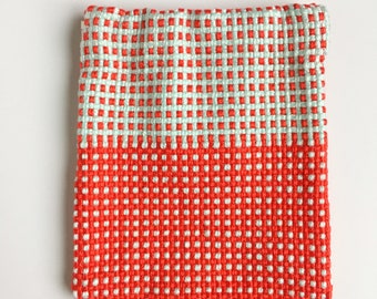 2 in the B/&W Picture Medium Rectangle Snap Pouch with zipper Handwoven Fabric No