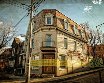 Architecture Print Photography Montreal Art Plateau Mont Royal Canadian Sellers Quebec The Lonely Pixel - Marie Anne Est