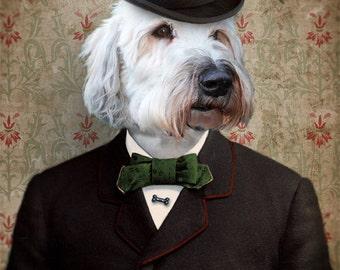 Wheaten Terrier Soft Coated Art Dog Print Pet Portrait Animal Art Photography Dog Print Lonely Pixel Print - Lord Kansas