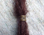 Antique Brass Patterned Dreadlock Bead
