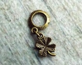 Antiqued Brass Lucky Clover Dreadlock Accessory