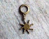 Antiqued Brass Tribal Sun Dreadlock Accessory
