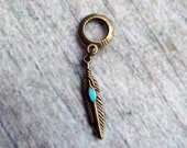 Antiqued Brass Feather Dreadlock Accessory