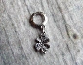 Silver Tone Lucky Clover Dreadlock Accessory