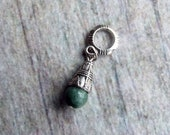 Silver Tone Cone Gemstone Tear Dreadlock Accessory