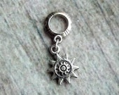 Silver Tone Tribal Sun Dreadlock Accessory