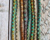 "8 Tie-Dye 16-18"" (READY to SHIP) Clip-In Wool Dreads Wrapped & Beaded Bohemian Hippie Dreadlocks"