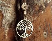 Antiqued Brass Tree of Life Dreadlock Accessory
