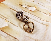 Antiques Brass Peace Sign Heart Dreadlock Accessory