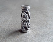Silver Tone Filigree Dread Bead