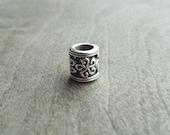 Small Swirly Star Pattern Dreadlock Bead Accessory Extension Accessories Dread Boho Bohemian Hippie Silver