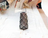 Silver Tone Layered Cone Dreadlock Bead