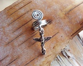 Silver Tone Totem Poll Dreadlock Accessory