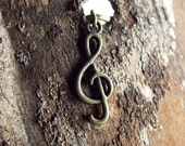 Antiques Brass Musical Treble Clef Dreadlock Accessory