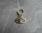 Gold Tone Lotus Dreadlock Accessory