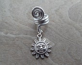 Silver Tone Sun Dreadlock Accessory