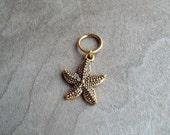Gold Tone Starfish Dreadlock Accessory