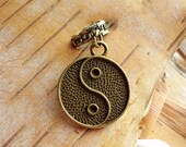Antique Brass Yin Yang Dreadlock Accessory
