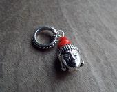 Silver Tone Buddha Head Dreadlock Accessory