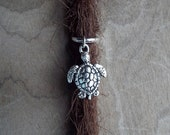 Silver Tone Sea Turtle Dreadlock Accessory