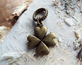 Antiques Brass Lucky Clover Dreadlock Accessory
