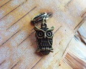 Antiqued Brass Owl Dreadlock Accessory