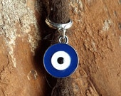 Silver Tone Evil Eye Dreadlock Accessory
