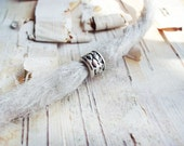 Silver Tone Braid Pattern Dreadlock Bead