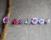 Antiques Brass Shades of Purple Flower Dreadlock Accessory