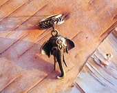 Antiques Brass Elephant Dreadlock Accessory