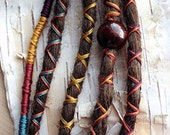5 Custom Clip In or Braid In Dreadlock Extensions Standard Synthetic Hair Boho Dreads Hair Wraps & Bead