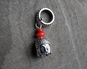 Silver Tone Buddha Head Dreadlock Accessory
