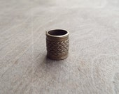 Woven Pattern Antiques Brass Dread Bead Dreadlock Accessory Extension Accessories Dread Boho Bohemian Hippie