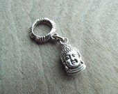 Silver Tone Buddha Dreadlock Accessory