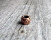 Copper Patterned Dreadlock Bead