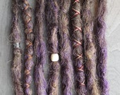 8 Custom Crocheted Clip In or Braid In Dreadlock Extensions Standard Synthetic Hair Boho Dreads