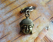 Antiques Brass Buddha Dreadlock Accessory